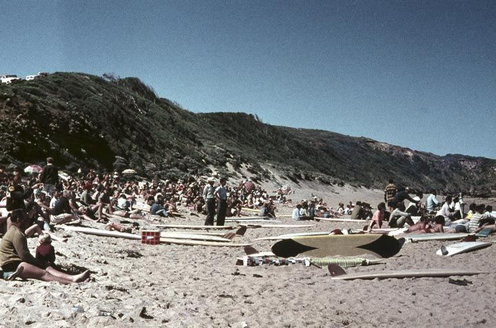 The first surf competition at Bells beach Australia day 1962.