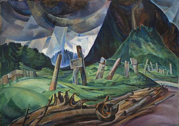 """Emily Carr (1871-1945), Canadian /  """"Vanquished"""", 1930, oil on canvas / Vancouver Art Gallery, Vancouver, BC, Canada"""