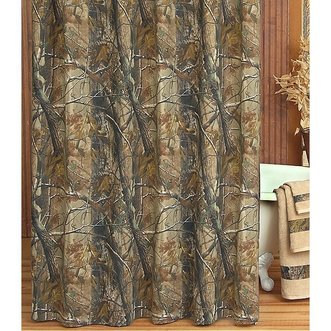 Realtree All Purpose Shower Curtain  Camouflage U0026 Hunting Decor