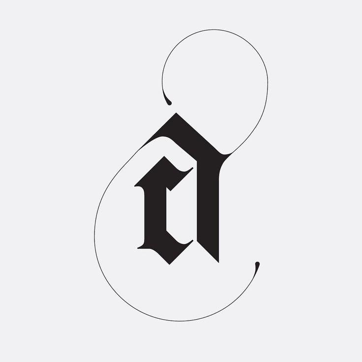 AC monogram by Hope Meng Design www.hopemeng.com // typography / type / logo / ligature / graphic design / letters / blackletter / The Monogram Project on Instagram @monogramproject