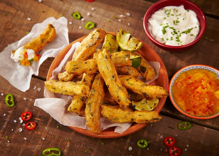 Savoury Mexican Snacks with Mango Dip! Cauldron Tofu is used to make a savoury doughnut batter in this recipe then Mexican favourites jalapeno, lime and coriander are added to give a fresh, zingy flavour. A tasty treat for any occasion!