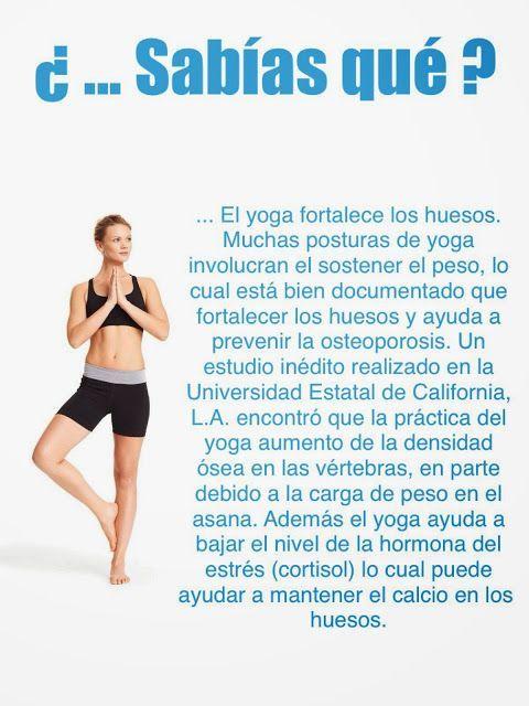 El Yoga fortalece tus huesos y te ayuda a prevenir la osteopororsis, comienza a…