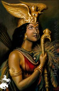 Queen Anacaona is the first Haitian heroin. She was the first to fight off the Spaniards off of the island of Hispaniola.