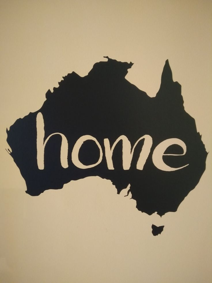 """Australia """"Home"""" Room Vinyl Wall Art Sticker / Decal! - Sticks right onto the wall! by FIESDesigns on Etsy"""
