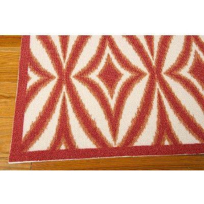 Waverly Tile Indoor Outdoor Rug Red 5 X7 Indoor Outdoor Rugs