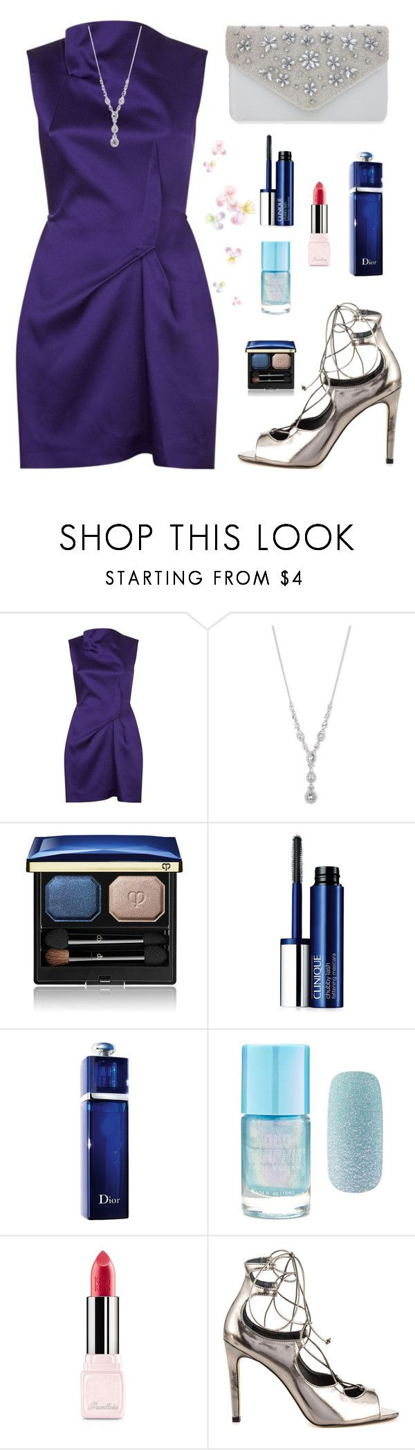 """The Night Sky"" by hiddensoulmemories ❤ liked on Polyvore featuring Roland Mouret, Givenchy, Clé de Peau Beauté, Clinique, Christian Dior, Forever 21, Guerlain, ALDO and Nina"