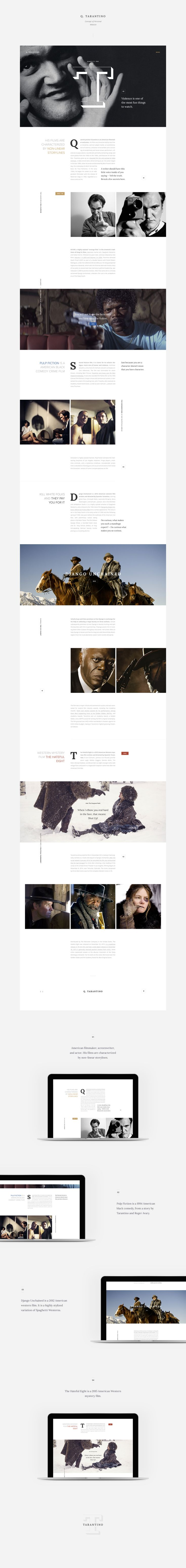 Q. Tarantino — Concept of Personal Website.