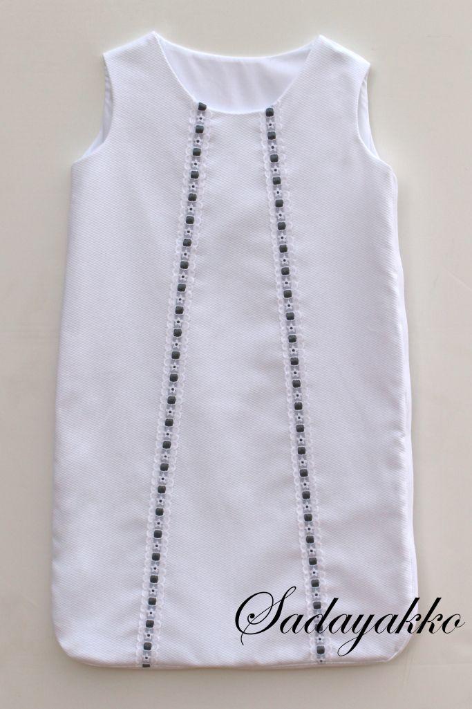 sacos dormir bebe sadayakko pasacintas blanco-gris 117-217