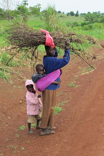 Uganda - everyone should learn to carry heavy loads on their heads!