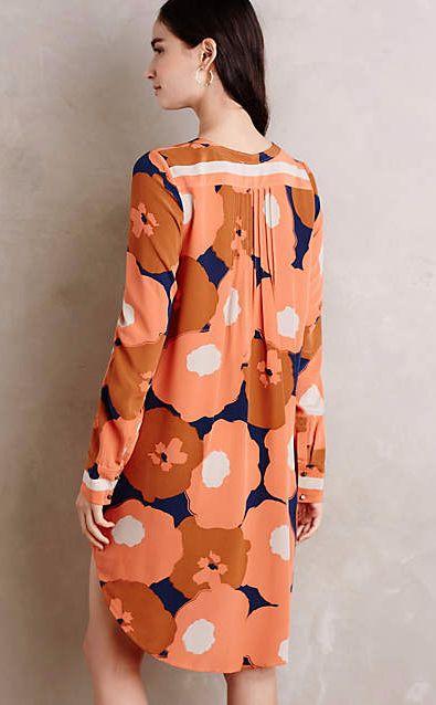 Nona Silk Tunic Dress #anthroregistry