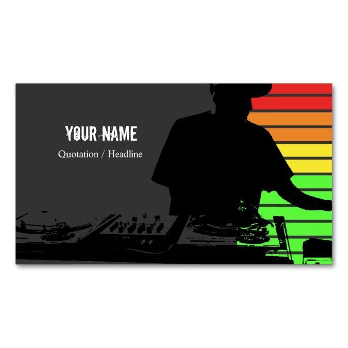2151 best images about dj business cards on pinterest dj for Music business card design