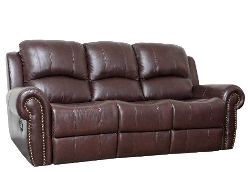 Abbyson Living Mercer Reclining Italian Leather Sofa