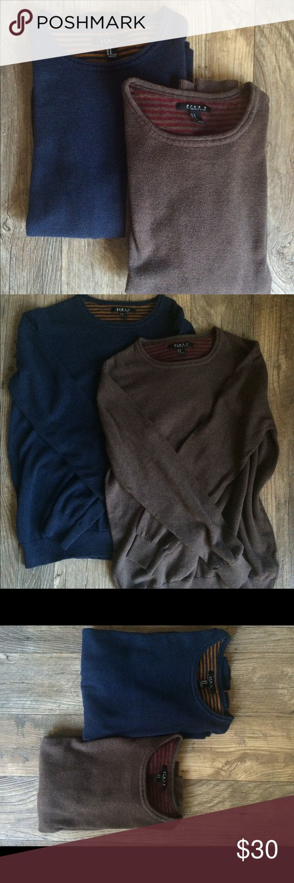 21 Men Sweaters These two Forever 21 Men's Sweaters are used in good condition. They are a bit too small on me so I hope someone else can enjoy them for the coming cooler months. $30 for both 21men Shirts Sweatshirts & Hoodies