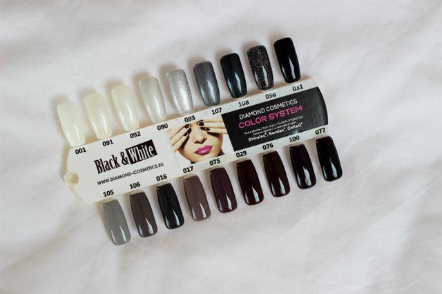 Semilac Black & White paleta