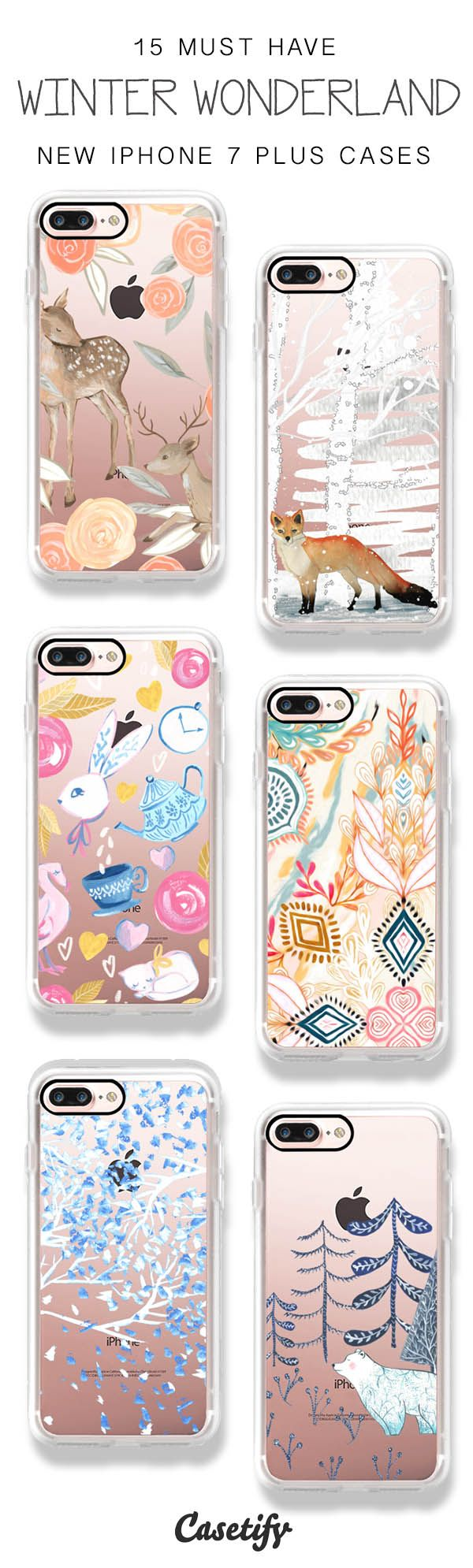 Walking in the Winter Wonderland! 15 Must Have iPhone 7 / iPhone 7 Plus Phone Cases here > https://www.casetify.com/artworks/JWUcNUdezF