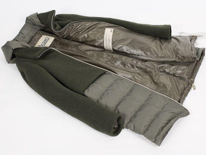 HERNO ヘルノ 【国内正規品】グリーン ニット×ダウン 切り替え フード付き ロングダウン コート HERNO(ヘルノ)からニットとナイロンの異素材コンビが新鮮な新モデルダウンコートのご紹介です。バランスの良いデザインが、大人の上質カジュアルを演出する絶妙なアイテム。着方によって様々な表情を魅せてくれる人気の一着です。「ポーラテック」ラインのこちらのダウンは、抜群の保温性と軽量が魅力で、-20℃でも温度を一定に保つという高機能性のダウンアウターのシリーズです。