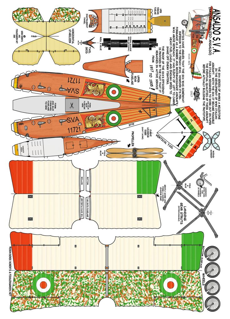 It is an image of Decisive Papercraft Models Airplanes