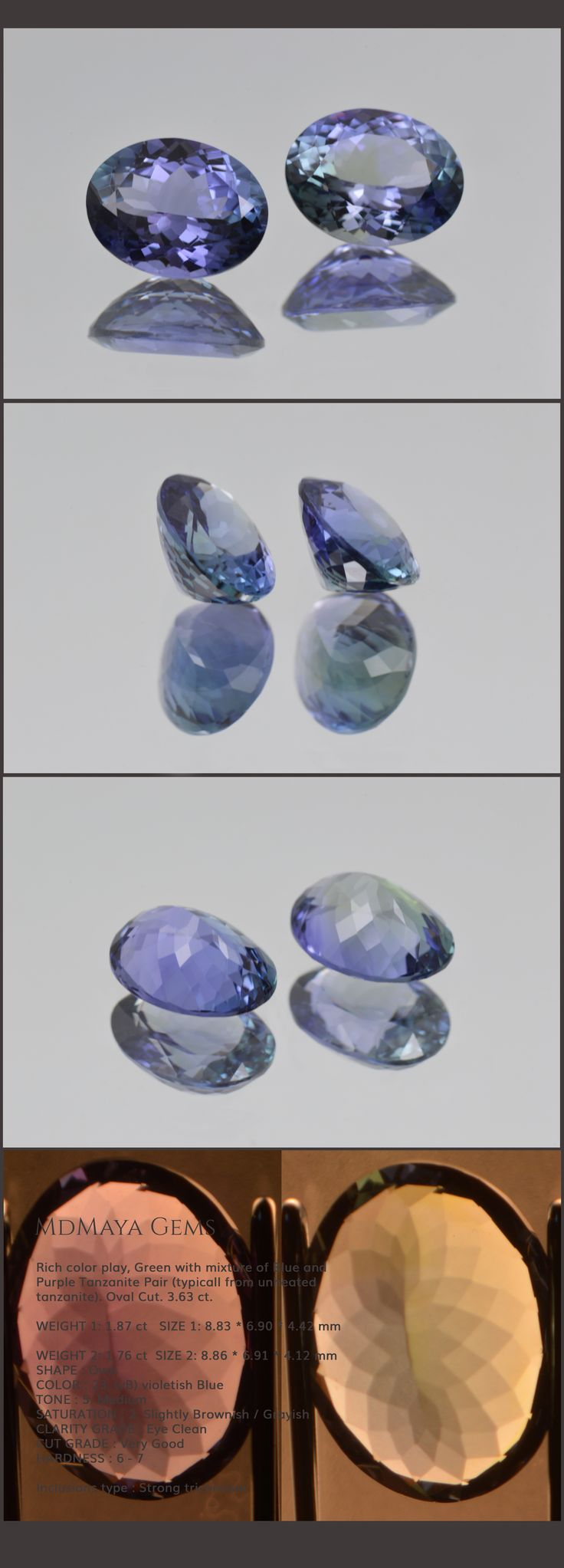 rare image natural tanzanite loose rv zircon