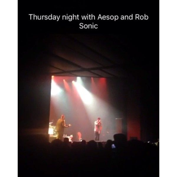 Aesop Rock, Rob Sonic, Busdriver & Homeboy Sandman performed on Thursday at The Novo by Microsoft