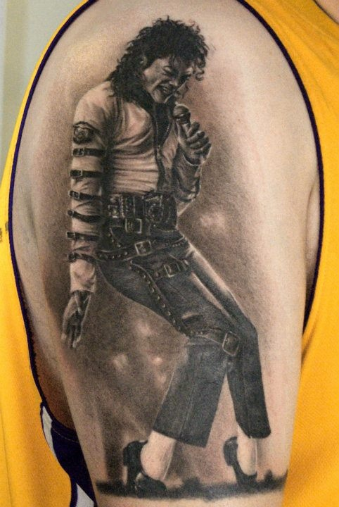 Michael jackson tattoo by robert litcan amazing tattoo for Jackson name tattoo