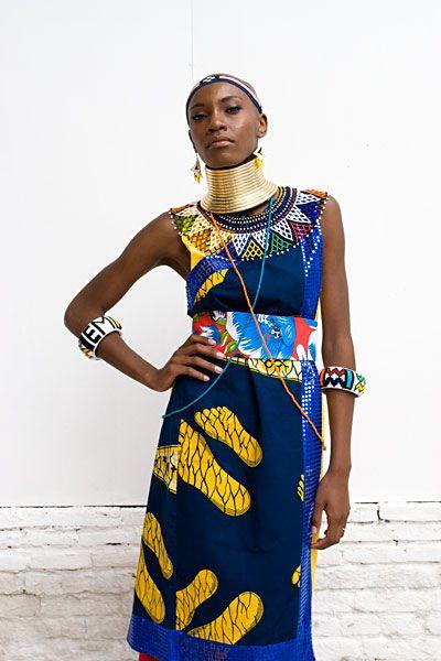 esther mahlangu custom dress