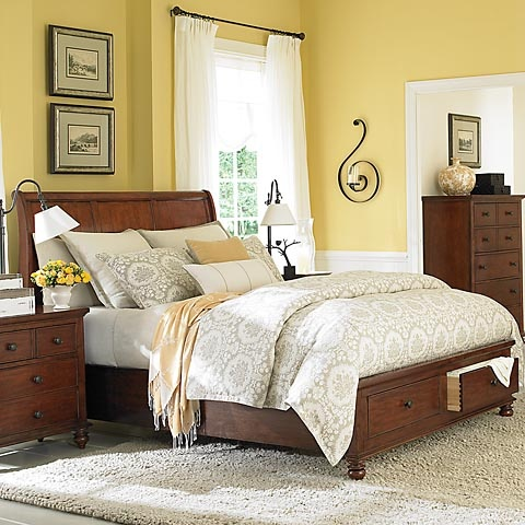 25 best ideas about dark wood furniture on pinterest diy hardwood floor dark wood bedroom - Furniture for yellow walls ...