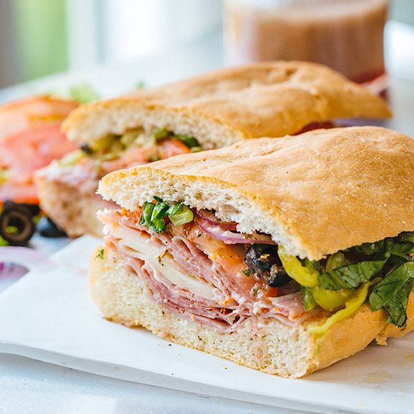 Classic Italian Sub Sandwich with an Herbaceous Red Wine Vinaigrette Recipe on Yummly. @yummly #recipe