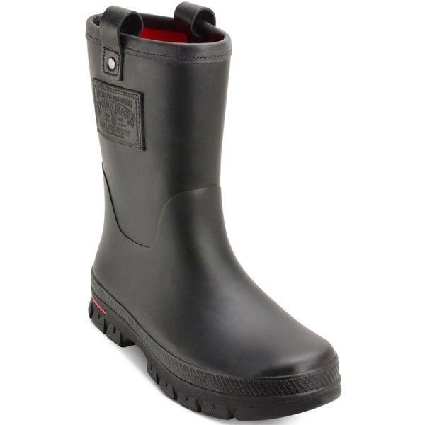 Polo Ralph Lauren Men's Warrington Rain Boots ($80) ❤ liked on Polyvore featuring men's fashion, men's shoes, men's boots, mens waterproof shoes, mens wellies rain boots, polo ralph lauren mens boots, polo ralph lauren mens shoes and mens waterproof boots