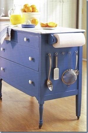 old dresser into creative island!