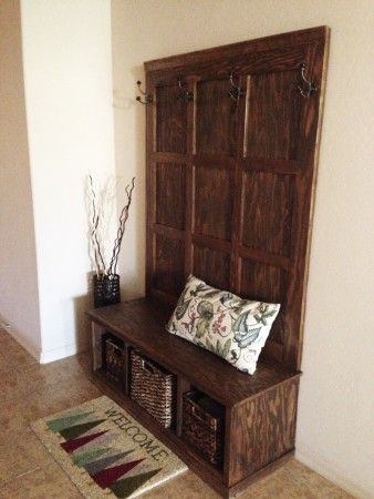 Fancy Hall Tree Bench | Do It Yourself Home Projects from Ana White