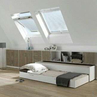 #slopedceiling #smallspace #trundlebed | save significant space with bedroom trundle solutions | @meccinteriors | design bites