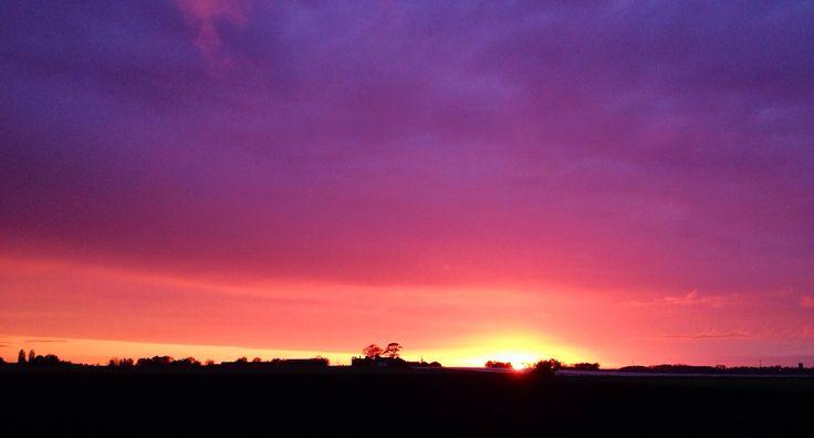 Sunset over Tarlscough Moss