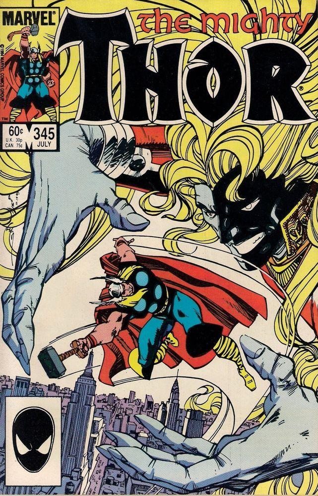 THOR # 345  MARVEL COMICS  1984  vf