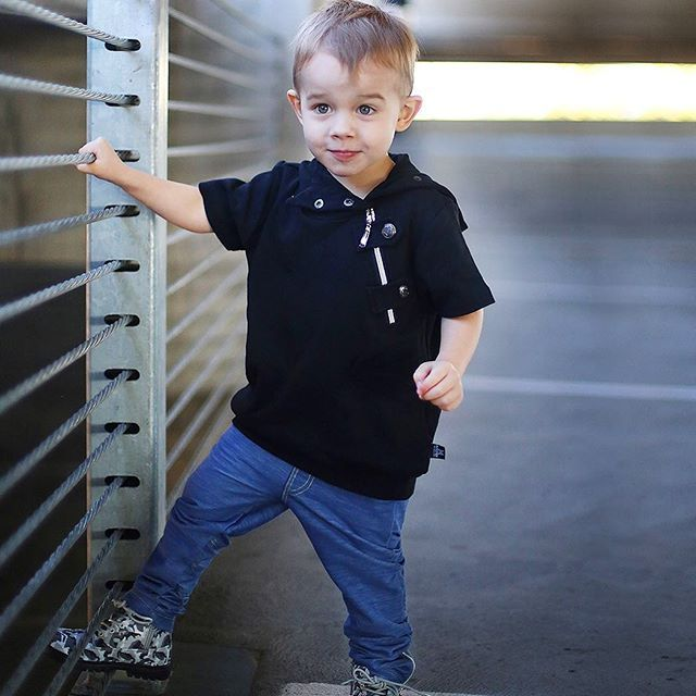 Fridays in style  Gorgeous Jax wears The Crescent  jumper in black plus the M-501 the softest denim pants out there dont  miss out our brand enthusiasts search coming soon follow> @mischiefandco < Tap link bio & shop online or google us #mischiefandco #kidsfashion  @jubilantjaxson