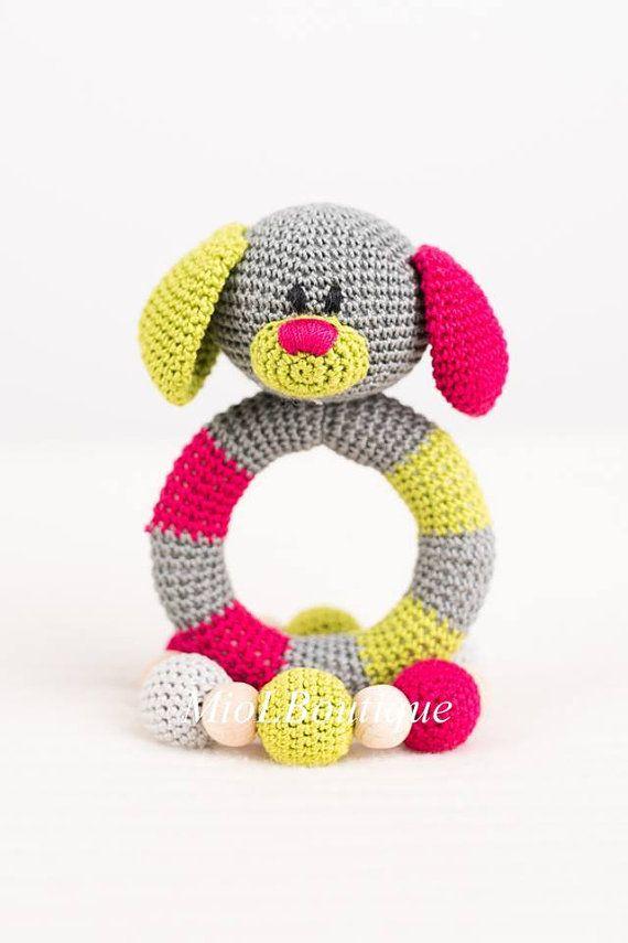 Baby rammelaar SET van 2 gehaakte Baby speelgoed door MioLBoutique