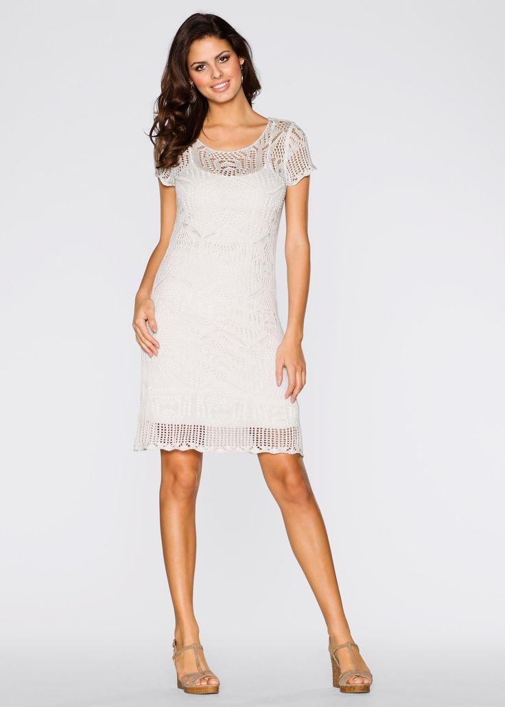 Gebreide jurk, BODYFLIRT, ecru