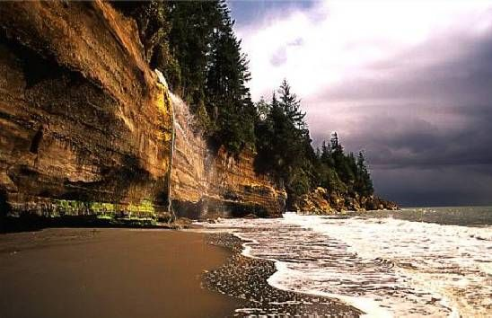 Mystic Beach on the Juan de Fuca Hiking Trail, Vancouver Island, BC http://travelbritishcolumbia.com/plan-your-trip/regions-and-towns/vancouver-island-bc-islands/west-coast-hwy-14/