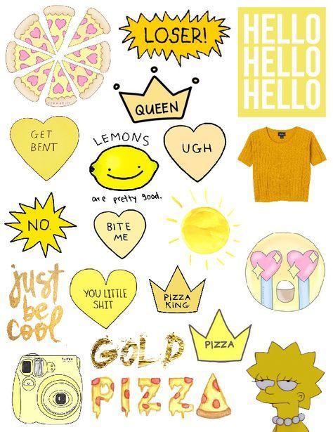 New Diy Phone Case Stickers Yellow 67 Ideas   Aesthetic ...