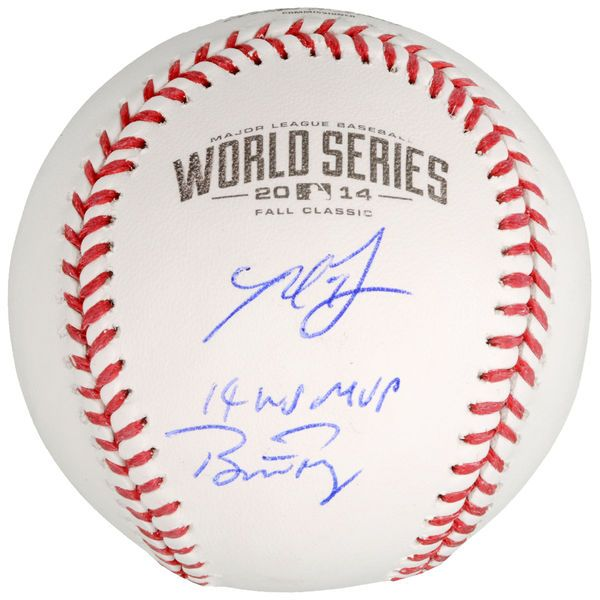 Madison Bumgarner, Buster Posey San Francisco Giants Fanatics Authentic Autographed 2014 MLB World Series Logo Baseball with 14 WS MVP Inscription by Madison Bumgarner - $799.99