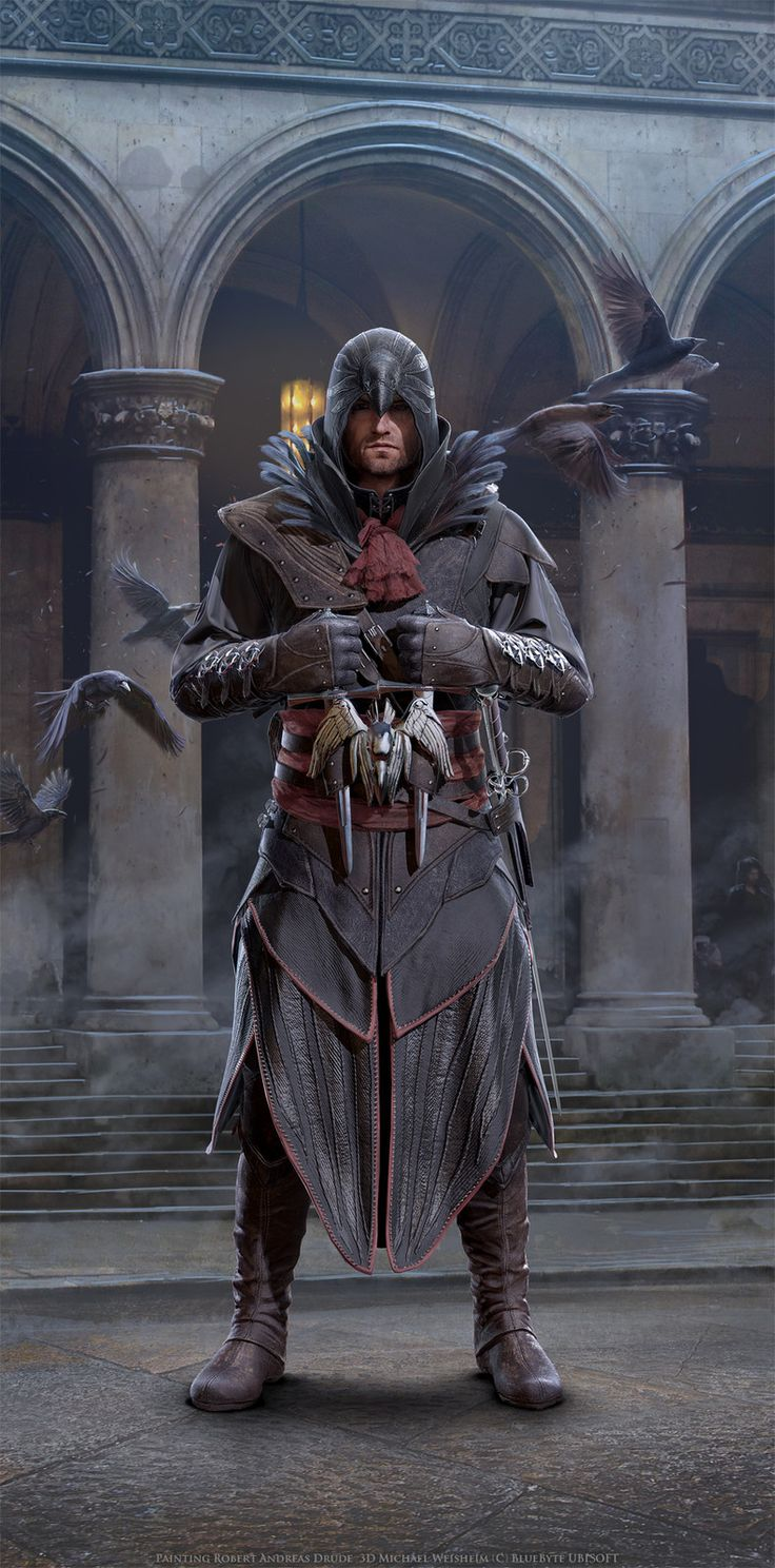 Assassins Creed Identity Characters, Andi Drude on ArtStation at https://www.artstation.com/artwork/d4qQe