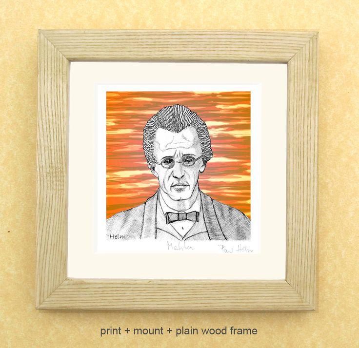 Gustav MAHLER - a portrait art print of the great Austrian composer. by PaulHelm on Etsy