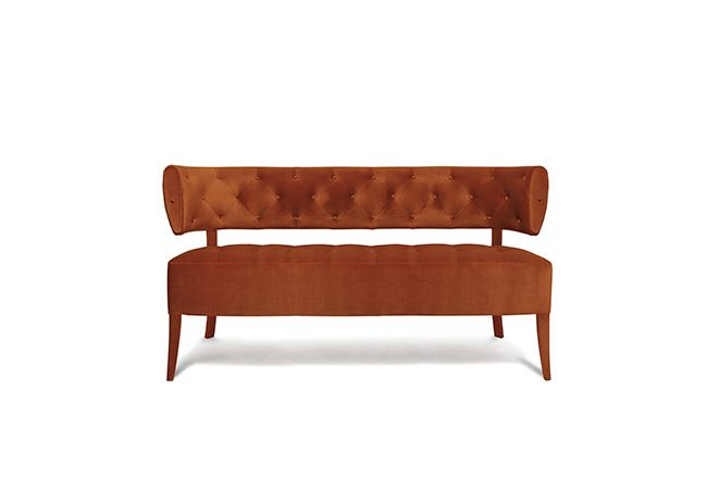 ZULU 2 SEAT SOFA - Contemporary Mid-Century | Contract Furniture | Hospitality Furniture #Upholsteredsofas #Velvetsofa #modernsofas | Find more inspiration at: https://www.brabbu.com/en/upholstery/