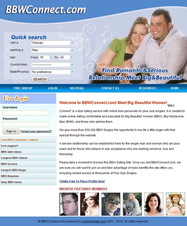 new fairfield bbw dating site The complete list of all the plus size online dating sites  (big handsome men) dating sites  largefriendscom is a dating site designed especially for bbw,.