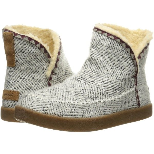 Sanuk Cush N' Blaze (Natural Chevron Knit) Women's Pull-on Boots ($80) ❤ liked on Polyvore featuring shoes, boots, suede heel boots, sanuk shoes, ankle boots, herringbone boots and slip on ankle boots