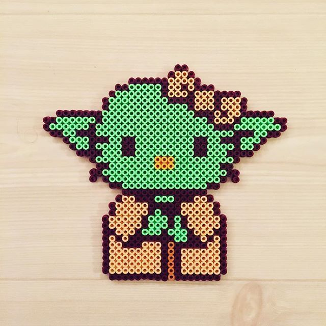 Yoda Kitty - Star Wars perler beads by kittybeads