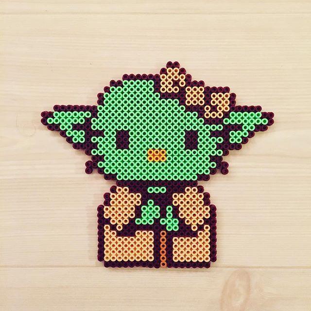 Yoda Kitty - Star Wars perler beads by kittybeads