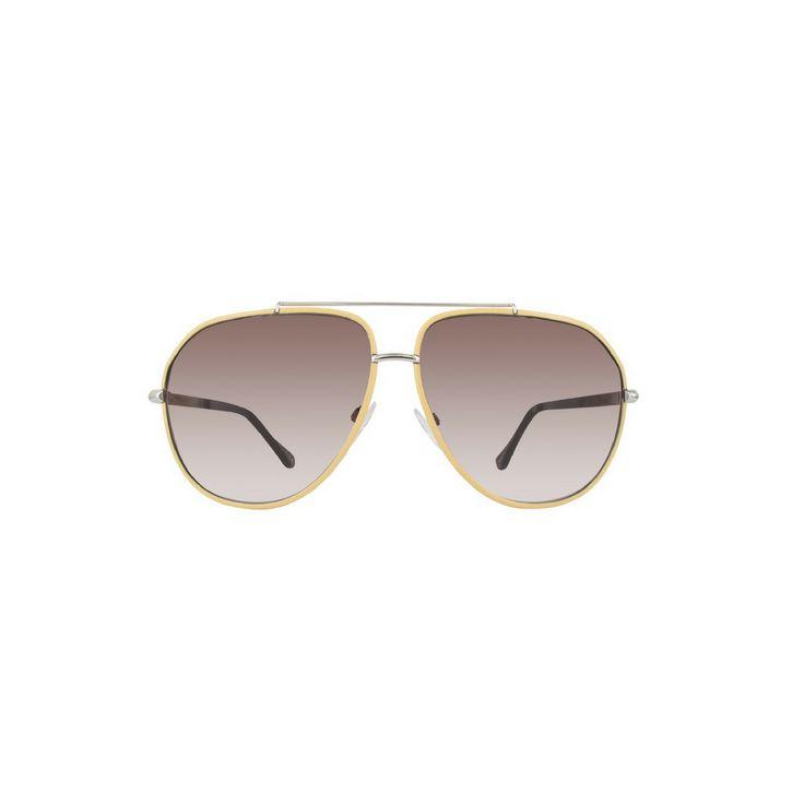 Balenciaga BA0062 Women's Aviator Sunglasses, Beige