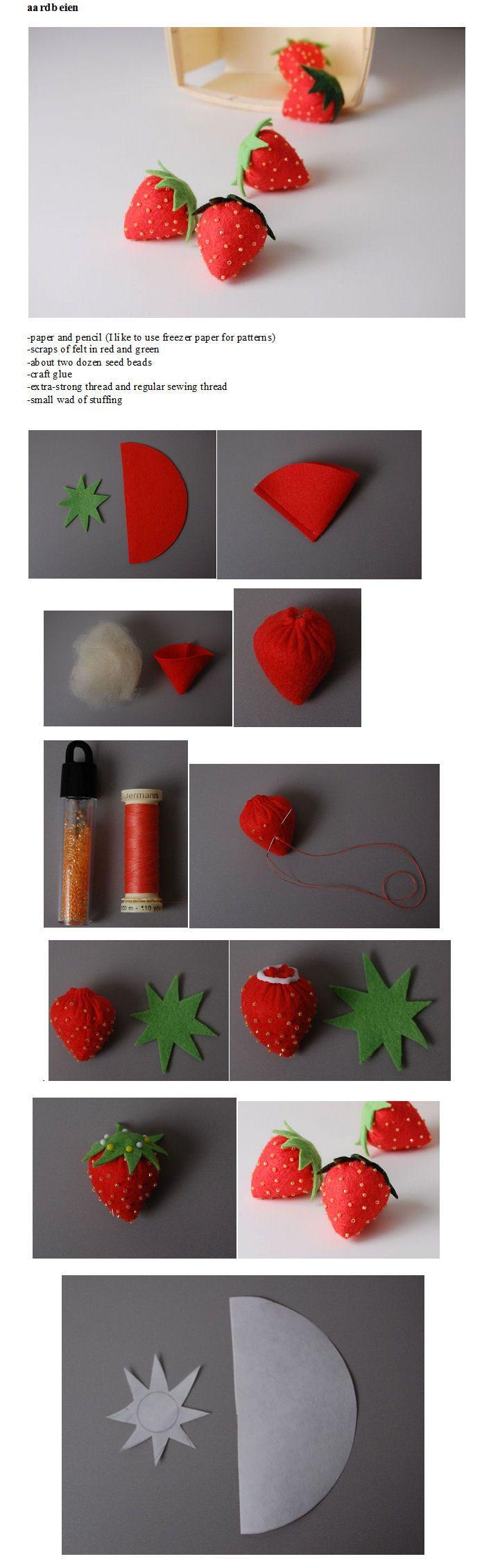 vilten aardbeien.