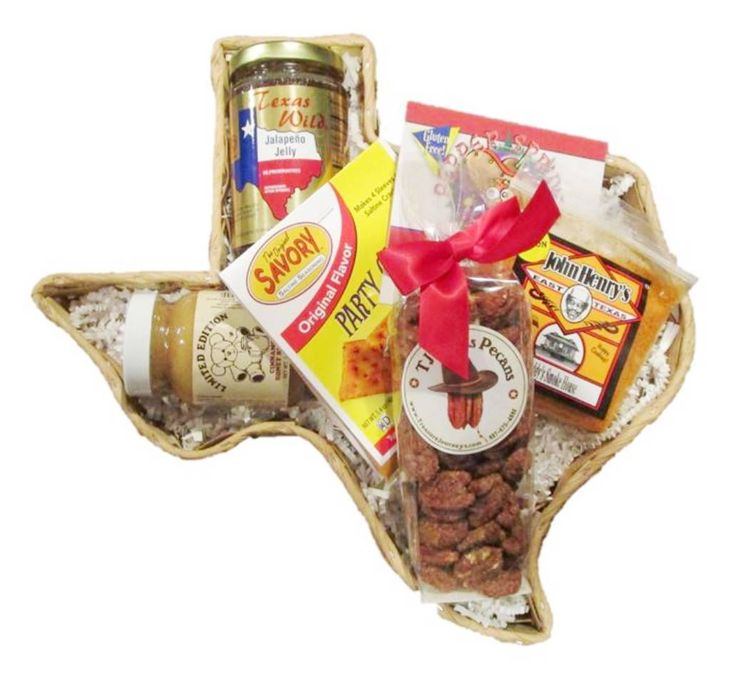 Lil Buckaroo Texas gift basket is a great gift anytime of the year that is filled with Texas products.