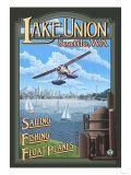 Lake Union Float Plane, Seattle, Washington Print